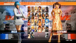 Dead or Alive 6 New Gameplay NICO vs LEIFANG - DOA6 PS4, XB1, PC