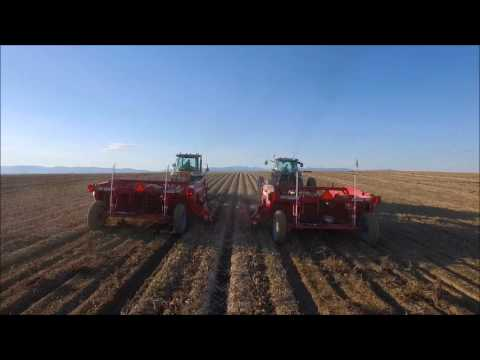 Potato Harvest Aerial Drone Footage Sly Dog Production