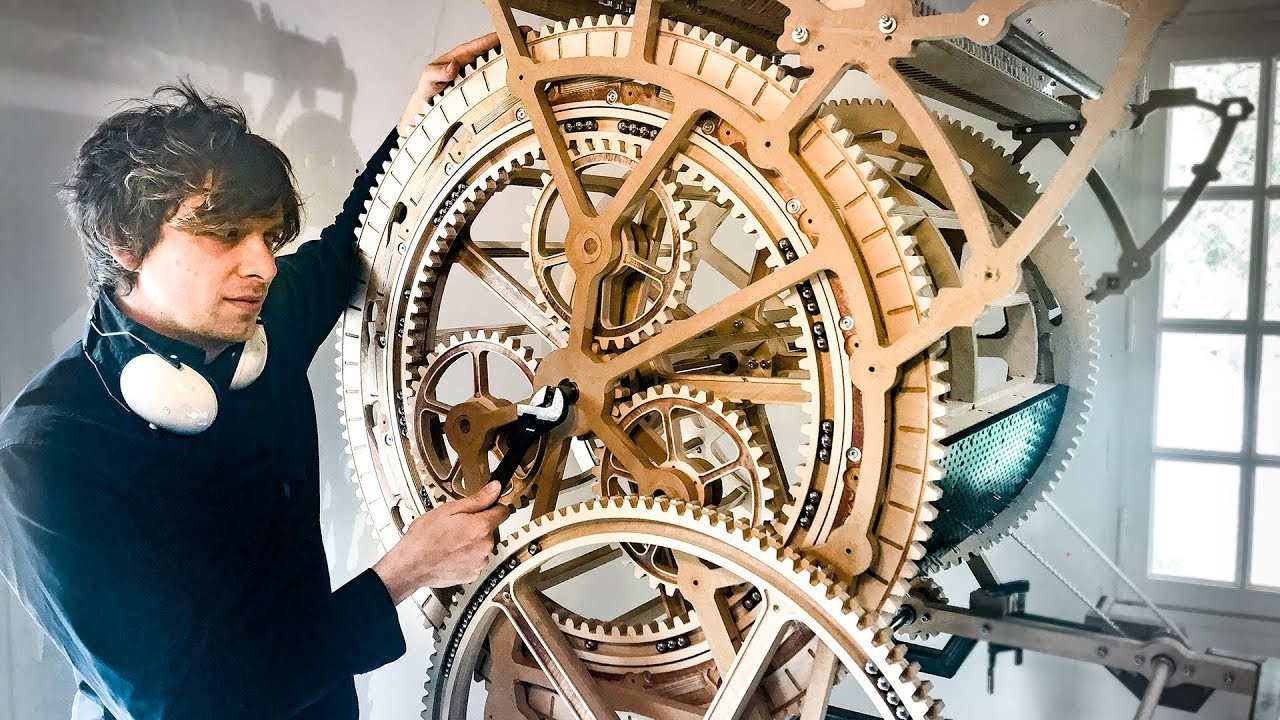Making The Planetary Gears Marble Machine X 36 Youtube