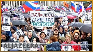 Tens of thousands rally at election protest in Moscow