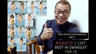 TOP 12!!! Best in Swimsuit Miss Grand International 2017.