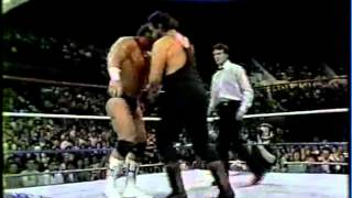 WWF/WWE- Hercules & Paul Roma vs Black Bart & Brooklyn Brawler
