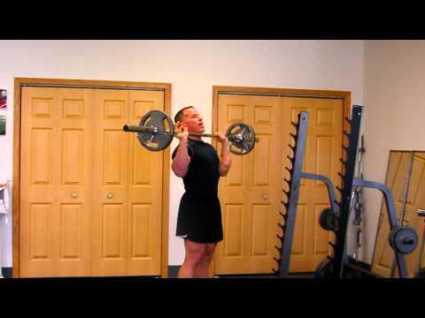 Standing Barbell Shoulder Press.For Massive Deltoid Growth