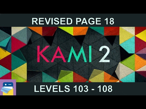 KAMI 2: Journey Page 18  (Levels 103 - 108) - 16 Moves - Walkthrough & Solutions (by State of Play)