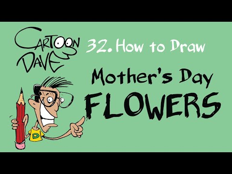 32 How to Draw FLOWERS - Cartoon Dave