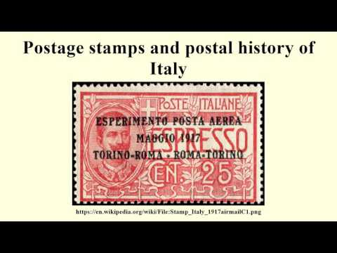 Postage stamps and postal history of Italy
