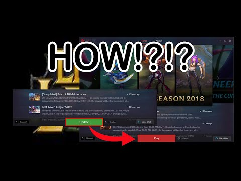 How To Manual Patch League Of Legends November 30 2019 Youtube