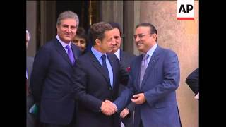 French President Sarkozy meets Pakistan