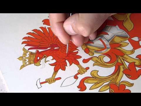 Heraldic Artist:  Arms in Progress - Jamieson Studios Master Artist Andrew Stewart Jamieson