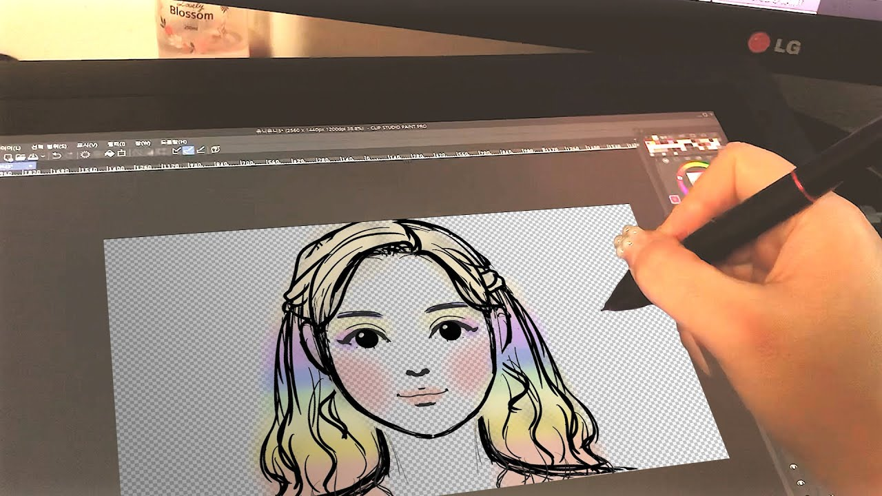SUB)그리기부터 완성까지 빠르게보기🎨🎬/Quick view from drawing to completion
