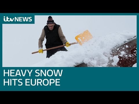 Freezing weather and heavy snow hits Europe as death toll increases   ITV News