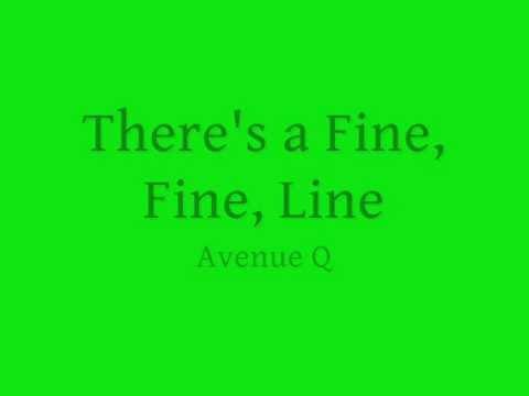 There's a Fine, Fine Line- lyrics
