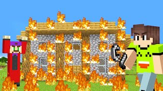 TAKING REVENGE In MINECRAFT! (Burning His House Down)
