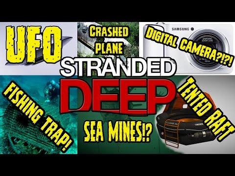 UFO ► Stranded Deep ► Digital Camera ► Fishing Trap►Sea Mine►Crashed Plane►Scuba Gear ► Tented Raft: STREAMING ON TWITCH.TV http://www.twitch.tv/gamesglitches Check out My Site! Always Improving! https://www.ludumnexus.com/ Dont Forget to Check out the FORUMS! Like Me On FACEBOOK: https://www.facebook.com/GamesGlitchesChannel Please Click Here to Subscribe to My YOUTUBE Channel http://www.youtube.com/user/GamezGlitchZ?sub_confirmation=1 Follow Me on Twitter: https://twitter.com/GamesGlitches Message Me on STEAM Profile: http://steamcommunity.com/id/GamezGlitchZ/ DONATE(Optional) https://www.paypal.com/cgi-bin/webscr?cmd=_s-xclick&hosted_button_id=NMPXFMEB3FXMW -------------- If you Enjoy my content, Please SUPPORT my Channel by SUBSCRIBING! Thank you all! Stranded Deep Resources, Limitless Resources, Limitless Building Supplies...how to build an EMPIRE!  https://www.jsoneditoronline.org/ NOTEPAD++ http://notepad-plus-plus.org/ RARE ITEMS IN STRANDED DEEP!  RARE STUFF! and FUTURE ITEMS!   ULTIMATE Crafting/Building Guide - Stranded Deep - Loot/Gathering/Crafting/Building/Hunting/Cooking/Base Crafting/Underwater Loot - PLAYLIST https://www.youtube.com/playlist?list=PLeusrXH_hwpgyqEyOn18PXBuLiew0cW-e   Crafting and Building Guide - Stranded Deep - Campfire - Cook - Crude Axe - Harvesting - Gathering  https://www.youtube.com/watch?v=W874fbyUCKM&index=1&list=PLeusrXH_hwpgyqEyOn18PXBuLiew0cW-e Crafting and Building Guide - Stranded Deep - Rock Shards/Spear/Hammer/Knife/Axe/Fishing/Fire Pit/Fire Spit  https://www.youtube.com/watch?v=rCjDP3gOnAo&list=PLeusrXH_hwpgyqEyOn18PXBuLiew0cW-e&index=2 Crafting/Building Guide - Stranded Deep - BUILDING BASE - Raft - Foundation - Walls - Roof - Steps https://www.youtube.com/watch?v=RPnxWNd5-5Y&index=3&list=PLeusrXH_hwpgyqEyOn18PXBuLiew0cW-e Crafting/Building Guide - Stranded Deep - BIG Foundation/Houses - Tree Respawn - Fire Refuel - Raft  https://www.youtube.com/watch?v=NhSkr4YJA5Q&list=PLeusrXH_hwpgyqEyOn18PXBuLiew0cW-e&index=4 Craf