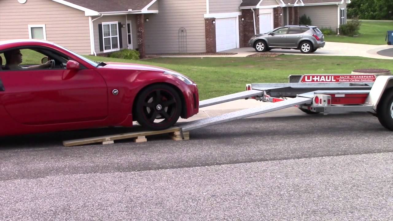Lowered 350z On A Trailer Youtube