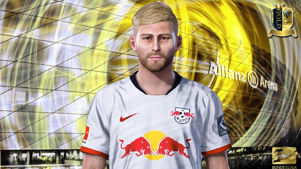 Konrad Laimer - RB Leipzig (PES20/19/18) - YouTube