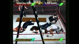 WWF Wrestlemania X8 (Gamecube) The Dudley Boys vs Hardy Boyz TLC Match