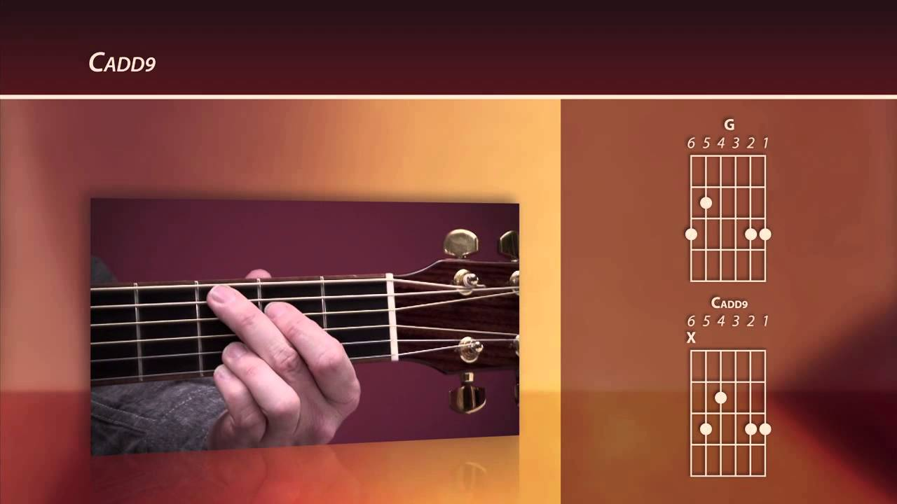 Beginning Worship Guitar Lesson Cadd9 Chord Youtube