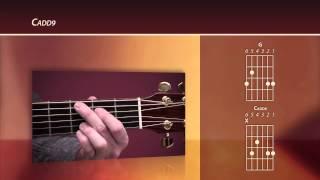 beginning worship guitar lesson cadd9 chord