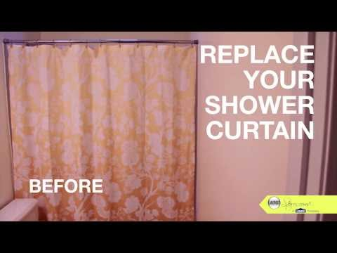 Bathroom Makeover Tip, Replace your Shower Curtains