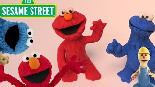 elmo and cookie monster sesame street   play doh   play with clay