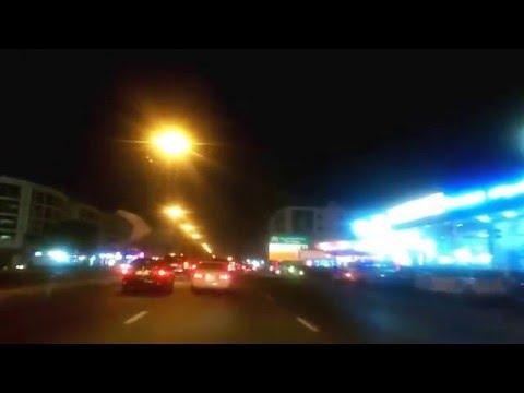 Dubai - Night Video - Damascus Street to Crown Plaza hotel, Deira