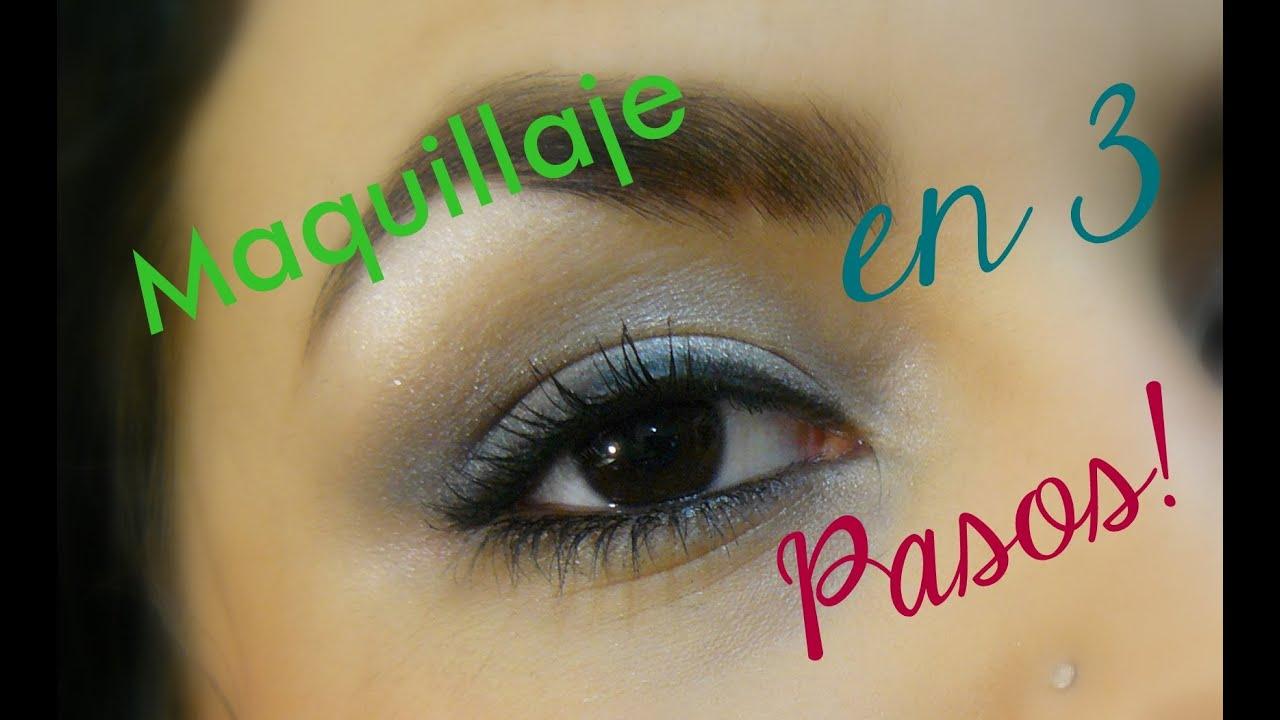 Maquillaje de ojos en 3 pasos principiantes azumakeup youtube - Ojos ahumados para principiantes ...