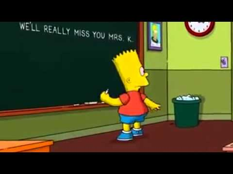 The Simpsons: Bart`s tribute to Mrs. K ( R.I.P. Marcia Wallace )