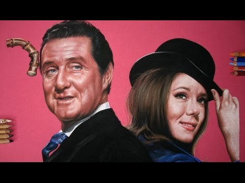 Drawing John Steed and Emma Peel - Patrick Macnee and Diana Rigg - The avengers