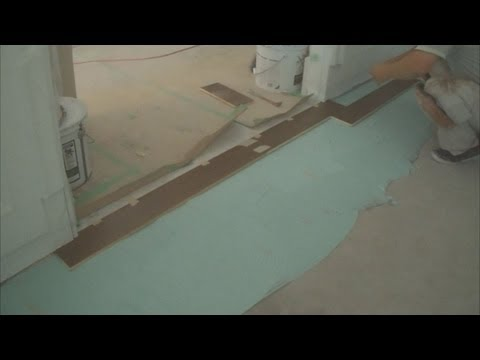 How to Install Engineered Hardwood Flooring on Concrete with a Wood Shim Part 3 of 4