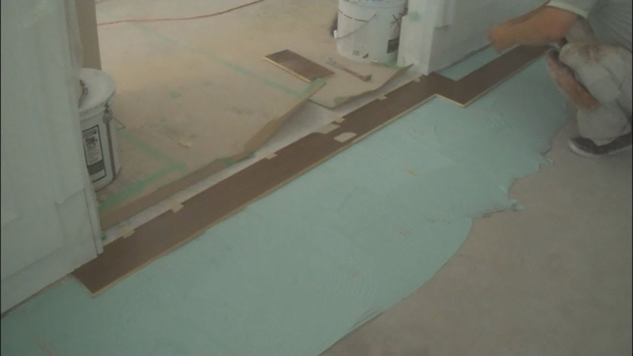 How to install engineered hardwood flooring on concrete for Installing 3 4 inch hardwood flooring
