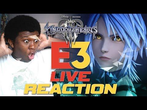 Kingdom Hearts 3 Frozen Trailer Live Reaction |  KH3 E3 2018 Live Reaction