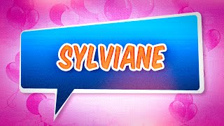 Joyeux anniversaire Sylviane