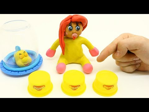 Princess Baby Ariel Magic Hidden Game Superheroes Play Doh Cartoons Babies stop motion