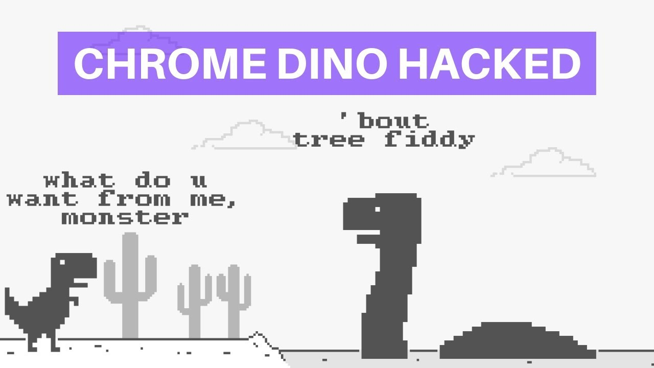 Chrome Dinosaur Game Hacked Make Highest Score Change Game Speed Youtube