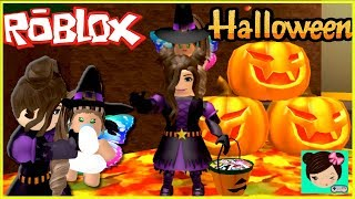 Adopt a Baby in Roblox Halloween World! - We dress up as Witches