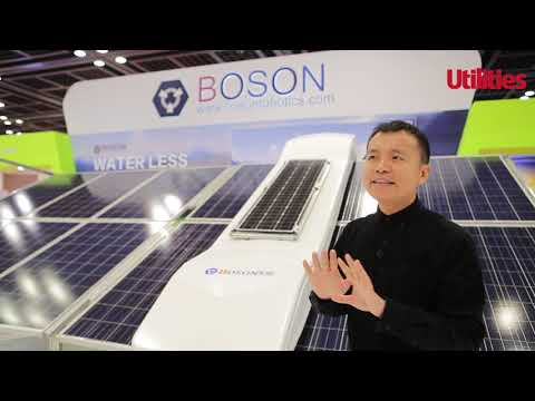 Boson Waterless Solar Panel Cleaning Robot at MEE 2019