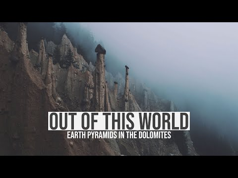 out-of-this-world:-earth-pyramids-in-the-dolomites-filmed-with-a-drone