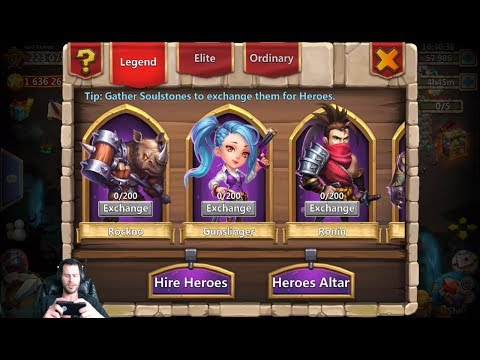 Rolling 60,000 Hire Heroes & Win NEED AnubiS + RockNO Castle Clash