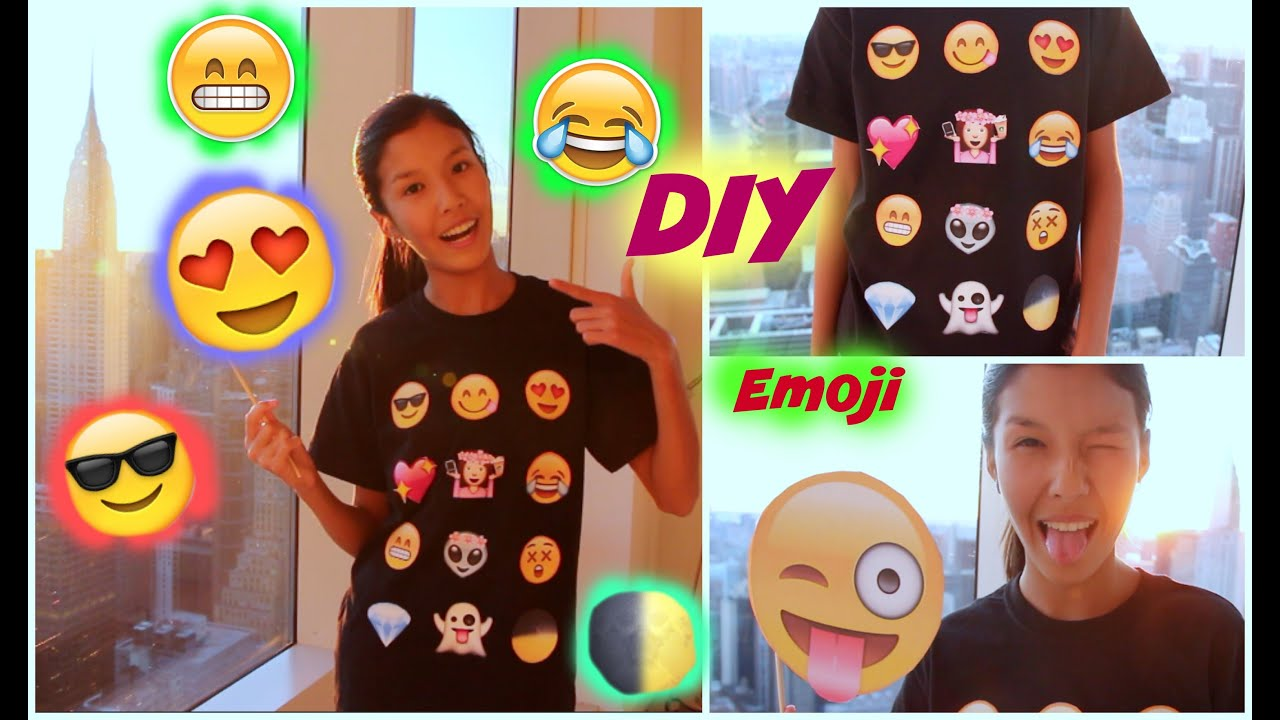 Diy emoji t shirt costume youtube solutioingenieria Gallery