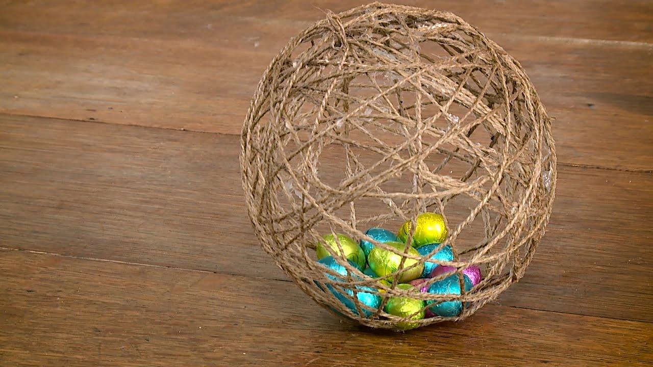 Uovo Di Spago Per Gli Ovetti Di Cioccolato Idee Per Pasqua Fai Da