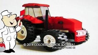 Мультфильмы про машинки. Красный трактор. Раскраски