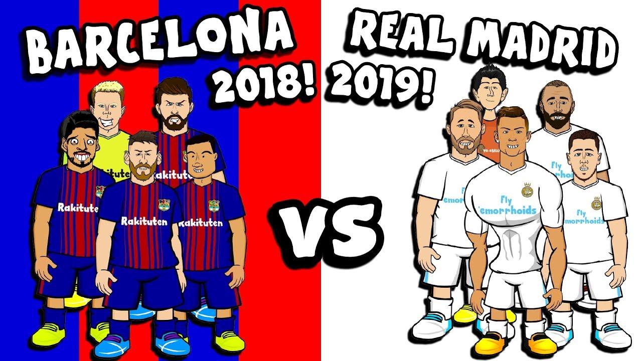 Barcelona 2018 Vs Real Madrid 2019 5 A Side Challenge