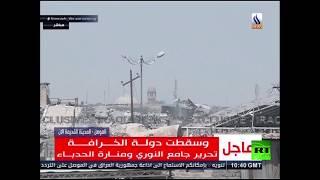 اللقطات الأولى لدخول القوات العراقية للموصل بعد انهيار تنظيم داعش .. فيديو