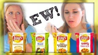 EW! New Lays Potato Chip Flavors (Taste Test)