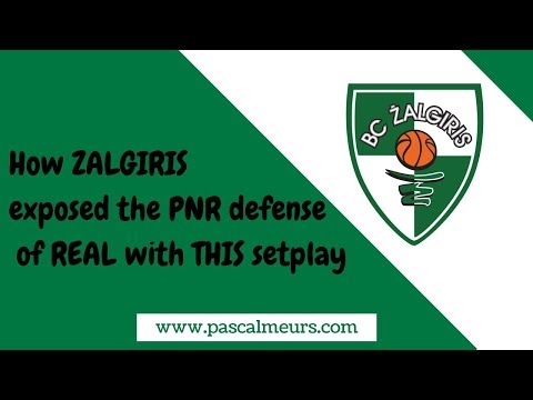 How ZALGIRIS exposed Real's PNR defense with THIS SETPLAY!