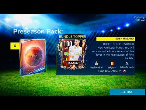 I GOT 100 OVR PRE SEASON HAZARD ! Biggest master bundle packs opening and gameplay in fifa Mobile 19