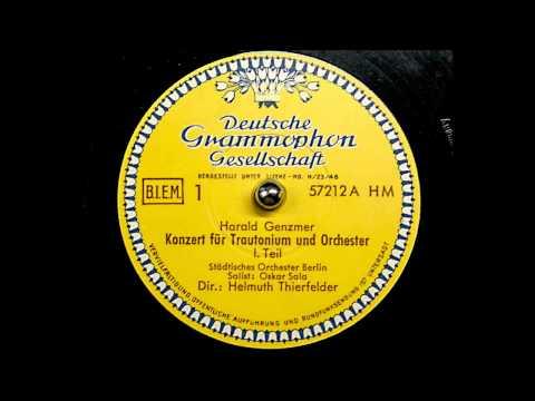 Harald Genzmer Oskar Sala Trautonium Konzerte Oskar Sala Trautonium