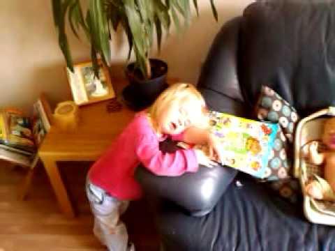 Izzy asleep standing up