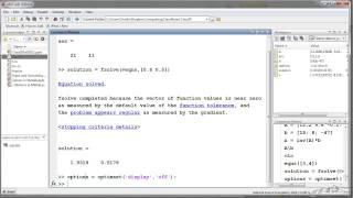 Matlab Solvers